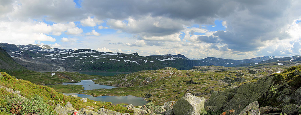 Kleine Seen kurz vor der Rembesdalseter Hütte