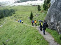 Abstieg von der Station Eigergletscher
