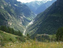 Blick ins Tal Valsesia