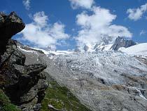 Blick auf den Glacier du Tour