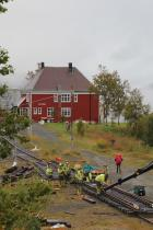 Gleisarbeiten am Bahnhof Katterat