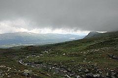 Tiefe Wolken über dem Huomnásj