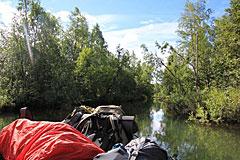 Auf dem Kvikkjokk Delta