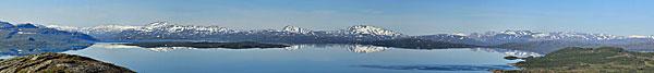Blick über den Virihaure nach Norwegen
