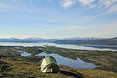 Zeltplatz mit Blick über die Dijdderhalbinsel