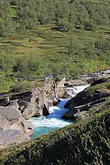 Brücke über den Låddejåhkå