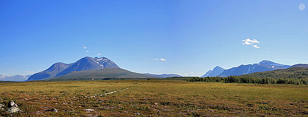 Áhkka und Sarek-Gipfel
