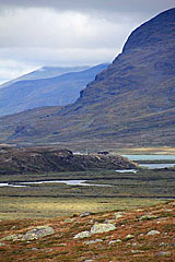 Blick zu den Alesjaure-Hütten