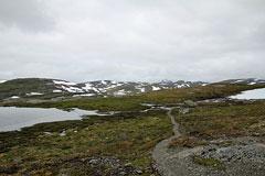 Blick zum wolkenverhangenen Hårteigen