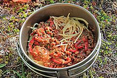 Spagetthi mit Tomatensosse und Rinderhack