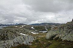 Abstieg zum Båtadalstjørni
