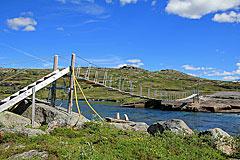 Hängebrücke über die Veig