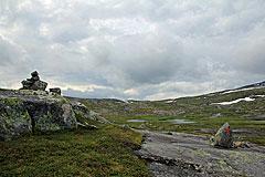 Blick zurück vom Ufer des Helvtaråna