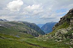 Blick entlang des Simdalen zum Eidfjord
