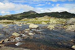 Furt über den Abfluss des Sandåvatnet