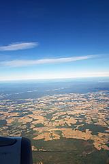 Tockene Felder beim Anflug