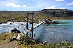 Sommerbrücke über die Russa
