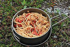 Spagetthi mit Paprika und Zwiebeln