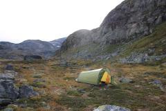 Zeltplatz nördlich der Höhe 1306 im Mjølkedalen