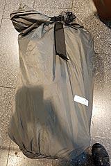 Transportsack und Regenhülle