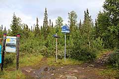 Abzweigung nach Pårek (Boarek)