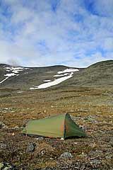 Zeltplatz unterhalb des Bårddetjåhkkå