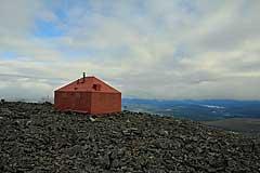 Hütte des Pårtetjåkkå Observatorium