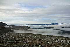 Wolken ziehen ins Njoatsosvágge
