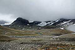 Blick zurück zur Furt des Bálgatjåhkå