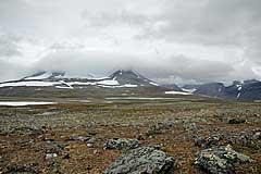 Abstieg zum Luohttojávrre