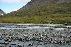 Furt des Flusses vom Nuortap Luohttojiegŋa