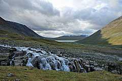 Wasserfall des Niejdariehpjågåsj