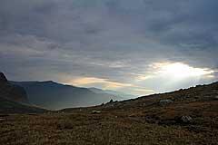 Sonnenstrahlen im Tjuoldavágge
