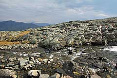 Furt vom Fluss vom Málmmatjåhkkå