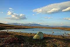 Zeltplatz am See auf dem Vállevárre