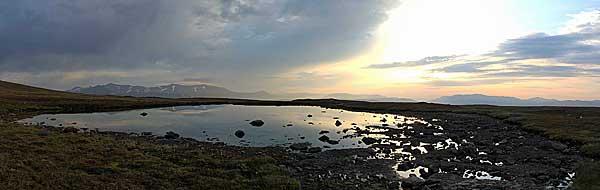 Morgenstimmung am See auf dem Vállevárre