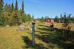 Kvikkjokk lag ursprünglich auf der Westseite des Gamájåhkå